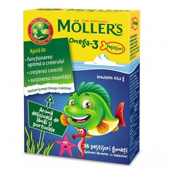 Pestisori gumati Omega 3 vitamina D 36 BUC - Orkla