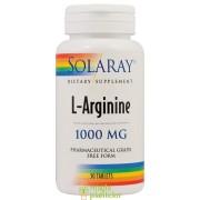 L-Arginine 1000 MG 30 TB -Solaray - Secom