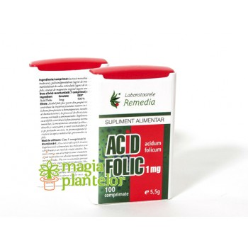 Acid folic 1 MG - 100 CPR - Remedia