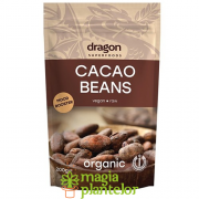 Boabe de cacao intregi bio 200 G - Dragon Superfoods