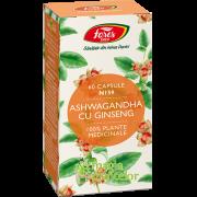 Ashwagandha cu Ginseng 60 CPS - Fares
