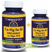 Ca-Mg-Se-Si cu Alga Afa 60+10 CPS - Herbagetica