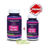 Detox activ 60 + 10 CPS - Herbagetica