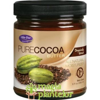 Cacao unt organic nerafinat pur 266 ML -  Life Flo- Secom