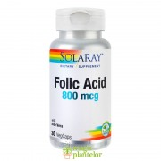 Acid Folic 800mcg 30 CPS – SOLARAY- Secom