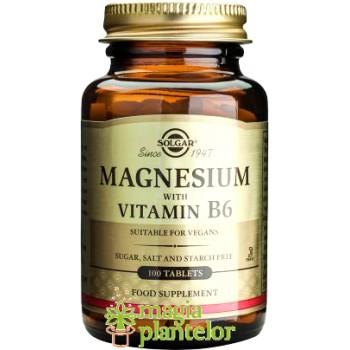MAGNESIUM +VITAMIN B6 100CP SOLGAR