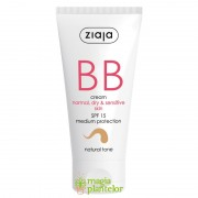 BB cream ten normal uscat sensibil SPF 15 natural tone 50ml - Ziaja