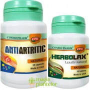 Antiartritic 30 CPS + Herbolax 10 TB – Cosmo Pharm