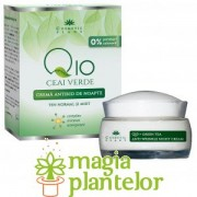 Crema antirid de noapte Q10, ceai verde si complex mineral 50 ML - Cosmetic Plant