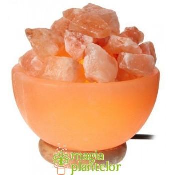 """Lampa electrica cristale sare Himalaya """"Glob de foc"""" - Monte"""